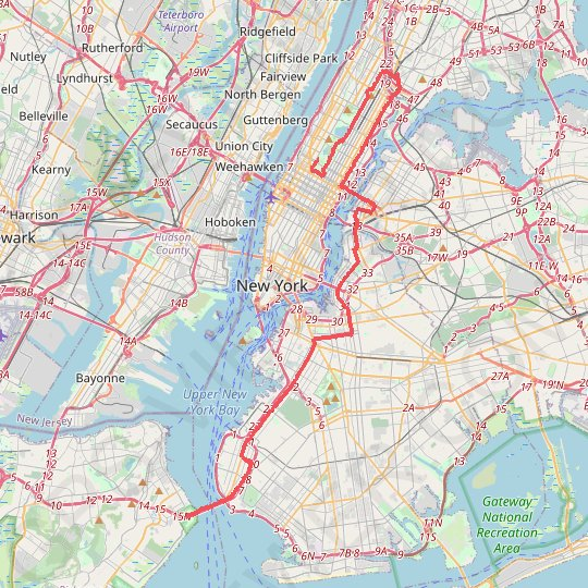 Marathon de New York City GPS track, route, trail