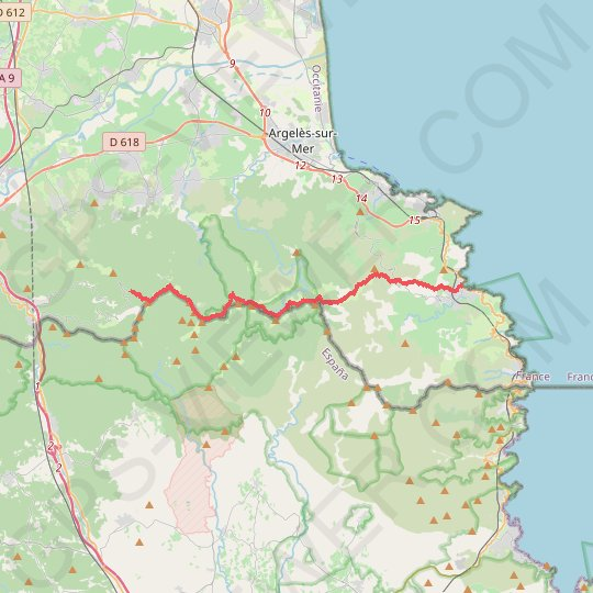 Banyuls - Col d'Ullat GPS track, route, trail