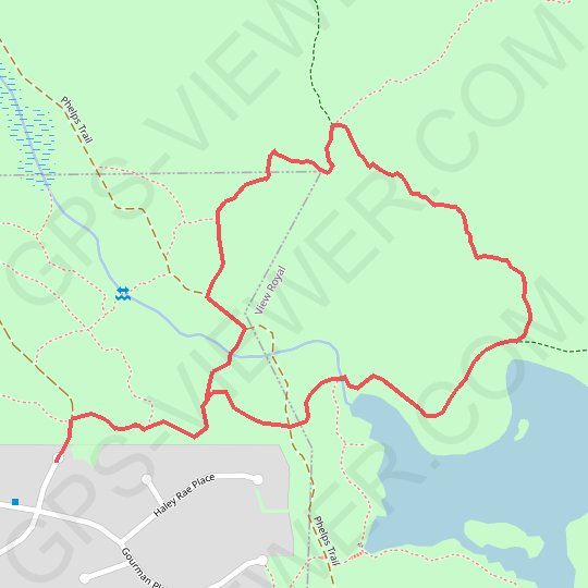 Upper Thetis Lake Trail - Phelps Trail GPS track, route, trail