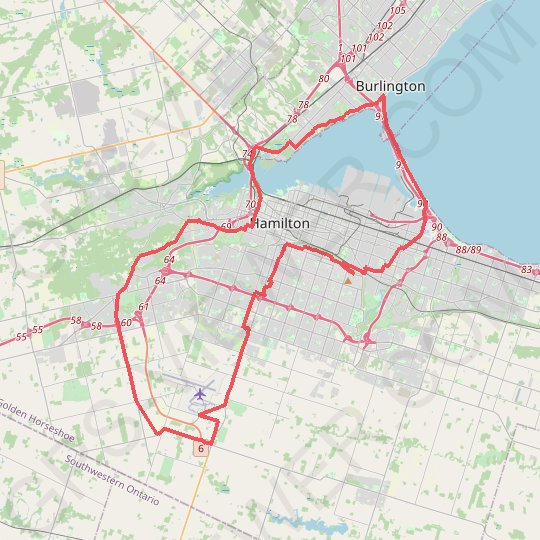 Hamilton Loop GPS track, route, trail